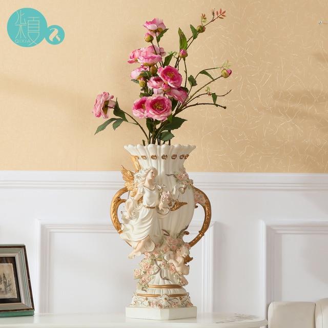 Qi Xia Living Room European Style Simulation Dried Flower Vase