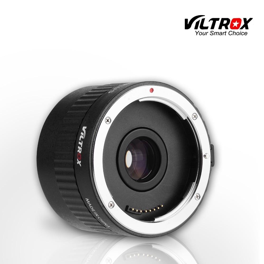 Viltrox C-AF 2X Teleplus 2.0X Teleconverter Extender Conversor de Telefoto Autofoco para Canon EOS & lente EF 7DII 5D Mark IV 6D