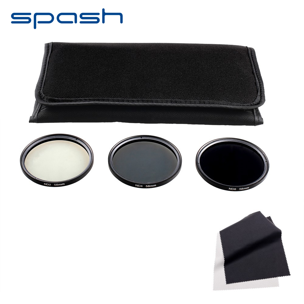 spash Camera ND Filter 52mm ND2 ND4 ND8 Lens Filter Set 58mm 67mm Neutral Density Filter Professional Photography Accessories