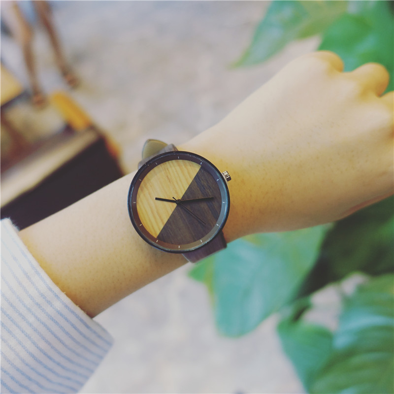 New Stitching Design Wood Grain Watches Simple Wooden Vintage Female Clock Brand Fashion Women Wrist Watch Relogio Feminino 3