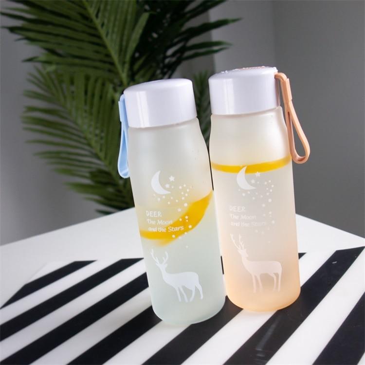 HTB1Y3zCOzDpK1RjSZFrq6y78VXaJ 560ml Water Bottle Leak Proof for Girl Biking Travel Portable Water Bottles Plastic H1177