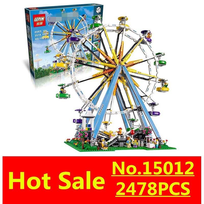 ФОТО LEPIN 15012 City Creator Expert Ferris Wheel Model Building Kits Assembling Block Bricks Compatible with 10247