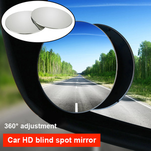 Image 5 - 1 Pair Round Blind Spot Wide Angled Mirror With Adhesive Car Wing Safety HD Rearview Mirrors VS998