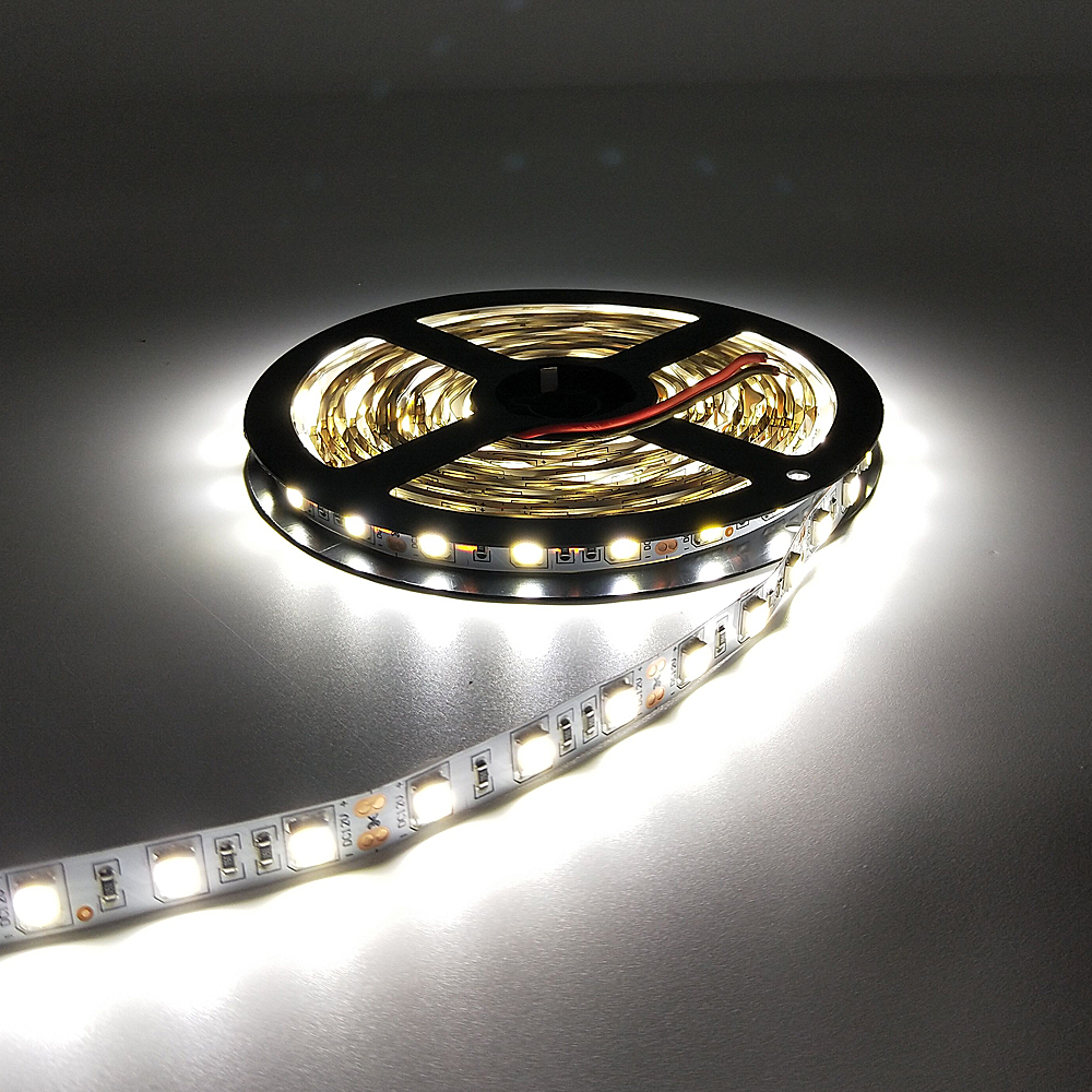 DC12V Waterproof LED Strip 5050 Fiexible Light 60Led/m,White,Warm White,Cold White,RGB   Light,5m/lot