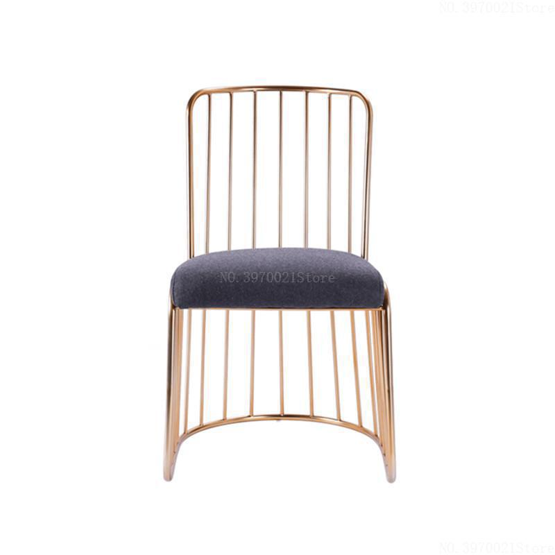 Open-Minded Nordic Simple Modern Bar Stool Gold Wrought Iron Dining Chair Living Room Lounge Chair Dining Chair Cafe Bar Stool Bar Chair Rich In Poetic And Pictorial Splendor Furniture