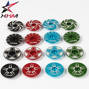 Meroca Aluminum alloy mountain bike bicycle stem cover MTB Bicycle Headset Top Cap Cover 28.6mm fork top cover(China)
