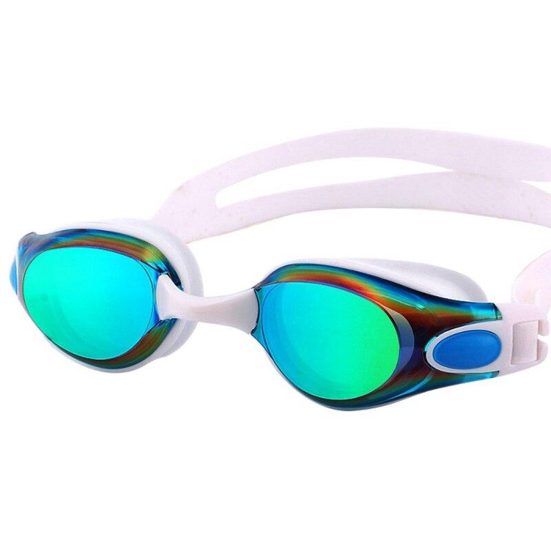 Ladies Plating Waterproof Anti Fog Transparent Glasses HD Glasses Swimming Accessories Adult Swimming Goggles