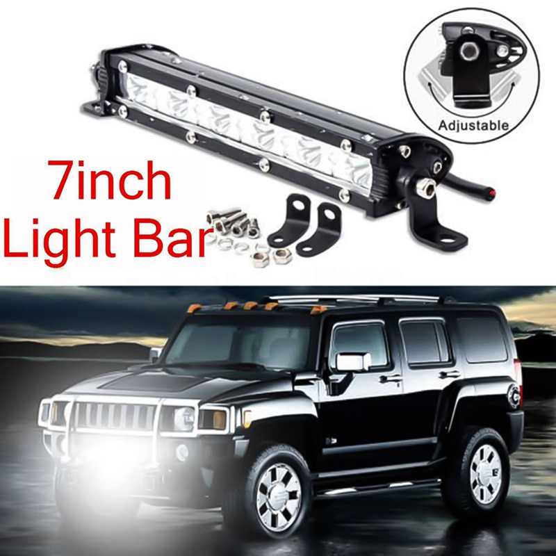 7 Inch 18w Led Light Bar Spotlight Offroad Fog Lamp Vehicle 6led Driving Work Lamp Offroad Suv Truck Tractor 12v Led Bar