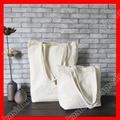 (50pcs/lot) sizeW 35xH42xD10cm eco blank cotton canvas shopping bag reusable