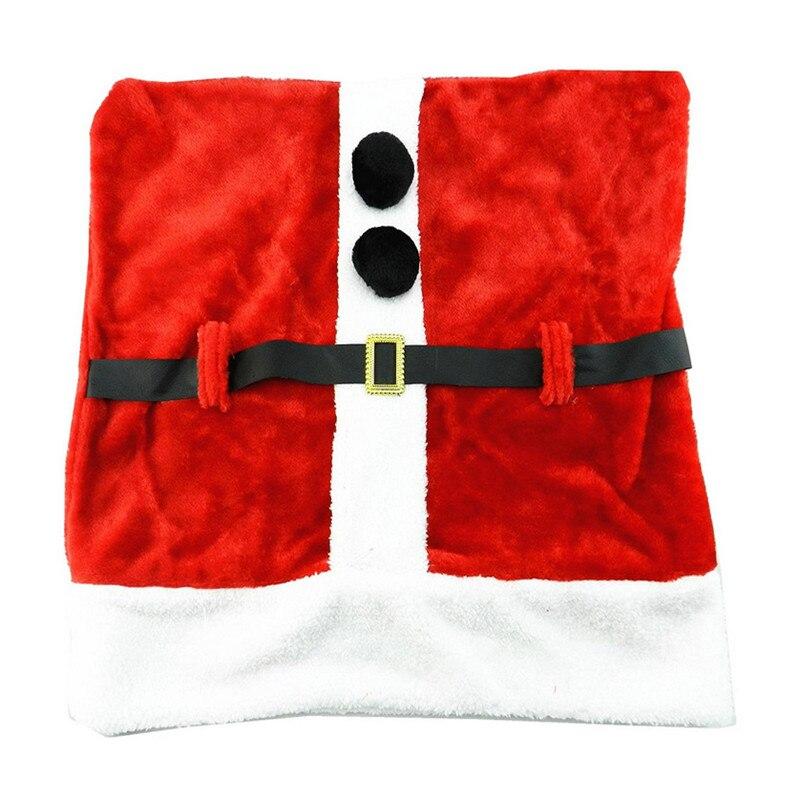Wholesale 100Pcs/lot Santa Claus Ornament Belt Buckle Chair Covers Christmas Party Decoration For House Restaurant Chairs Cover