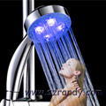 LED Shower head Hand Held square Automatic color changing Shower Water Saving temperature Bathroom Accessories