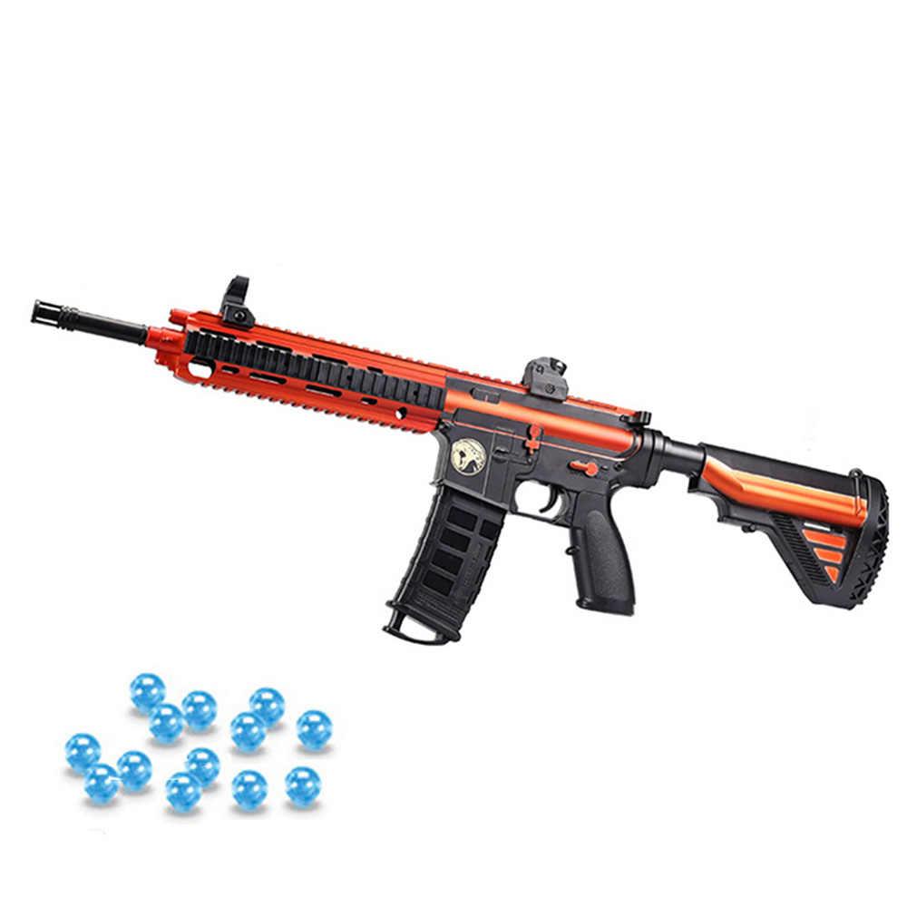 دمية بلاستيكية M416 البنادق الكهربائية Airsoft مسدسات الهواء تبادل لاطلاق النار هلام الكرة الألوان مدفع المياه مسدس قناص في الهواء الطلق CS معركة لعبة للبنين
