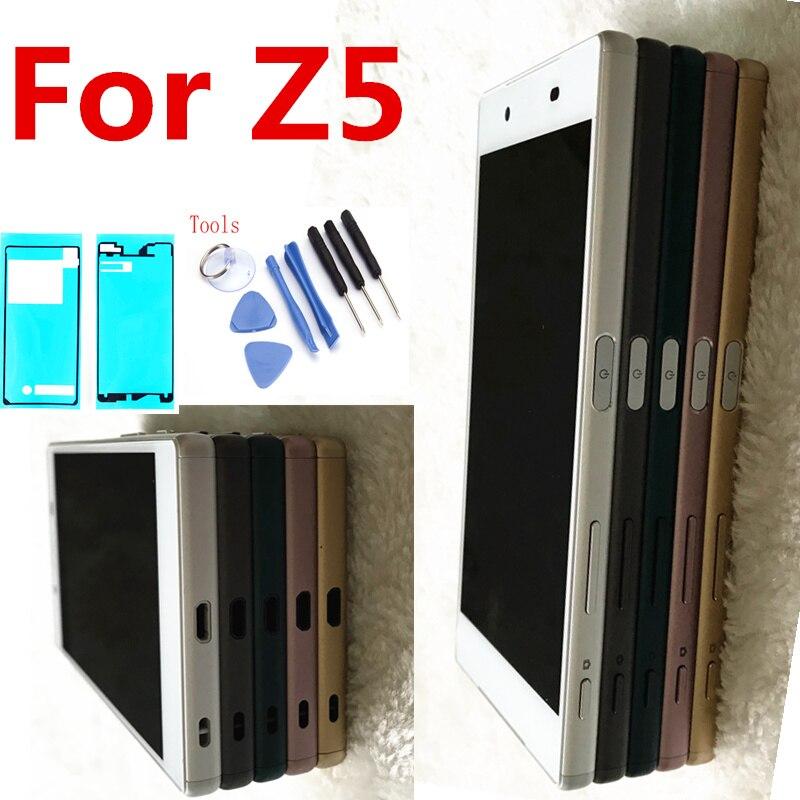 Pour Sony Xperia Z5 E6633 E6683 LCD Affichage à L'écran Tactile Digitizer Assemblée avec Cadre Double carte 1920*1080 Pour 5.2 Sony Z5 LCD