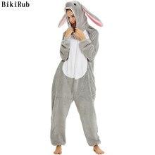 Pijamas de animales para adultos ropa de dormir de manga larga kigurumi todo en uno pijama trajes de animales ropa de conejo mujeres dibujos animados Onesies