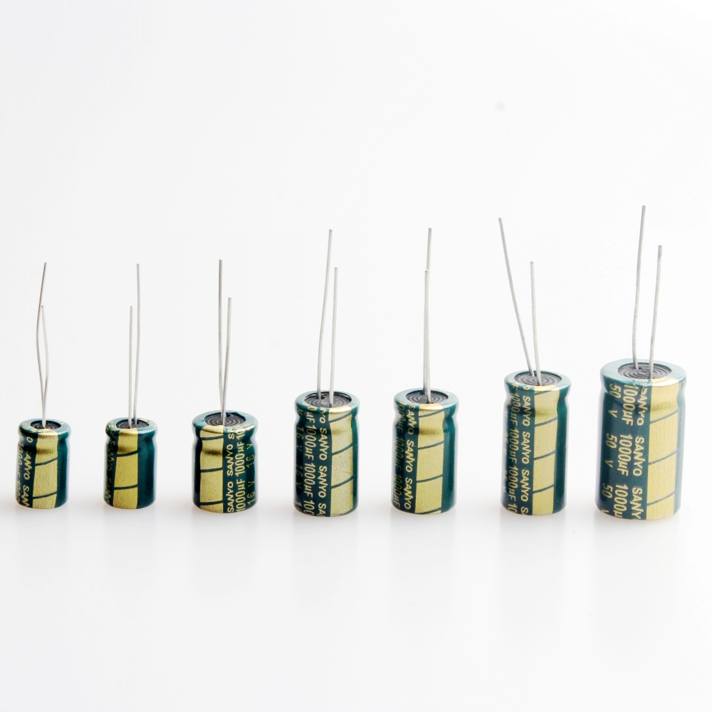 <font><b>1000UF</b></font> 6.3V 10V 16V 25V 35V <font><b>50V</b></font> High Frequency Electrolytic Capacitor (Pack of 10) image