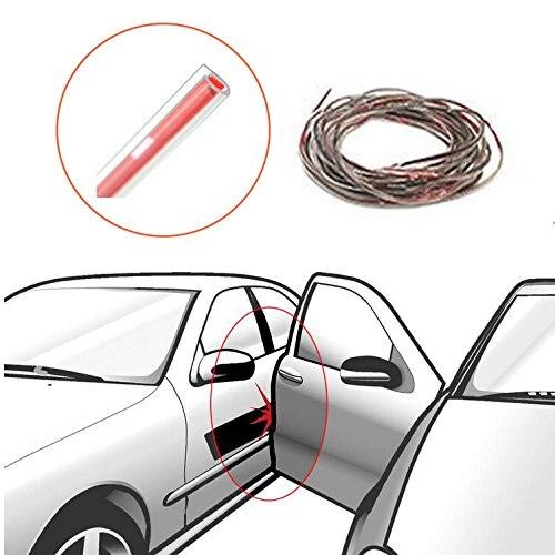 16FT//5M Car Door Edge Trim Molding Carbon Fiber Seal Scratch Protector Guard