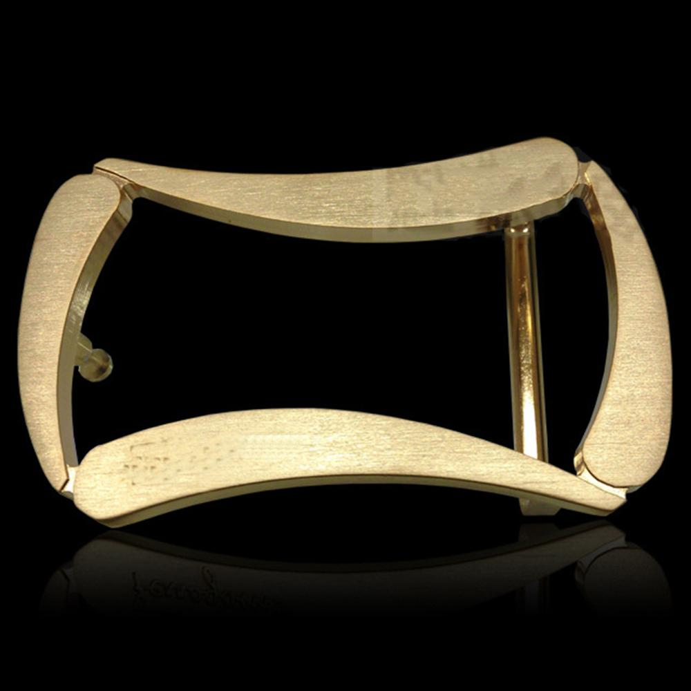 FAJARINA Unique Design Belt Waist Accessories Geometric Pattern Hollowe Stainless Steel Belts Buckles 3.3-3.5cm Wide BCK011