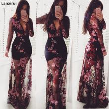 2019 black Lace Hollow Out Women Dresses Sexy Backless Eveni