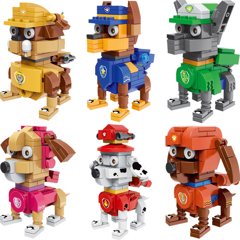 Dog Animal Garden City Street Dog Pet Shop Model Building Kits Blocks bricks Assembling toys lps pet shop short hair kitty and dog collection classic animal pet cat free shipping toys action figures kids toys gift