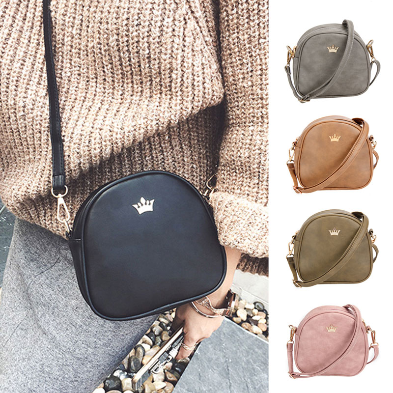 цены 2017 New Women Bag Imperial Crown Women Messenger Bag Small Shell Crossbody Bag PU Leather Fashion Designer Handbag Phone Purse
