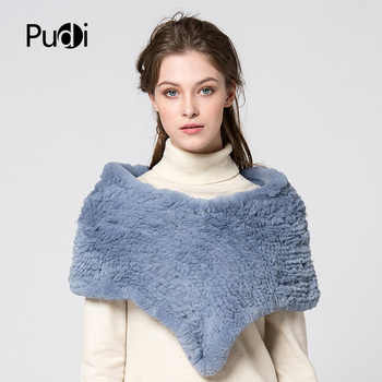 Pudi SF751-1 women rex rabbit fur pashmina shawl 2017 new winter real fur shawl scarf scarves wraps - DISCOUNT ITEM  21% OFF All Category