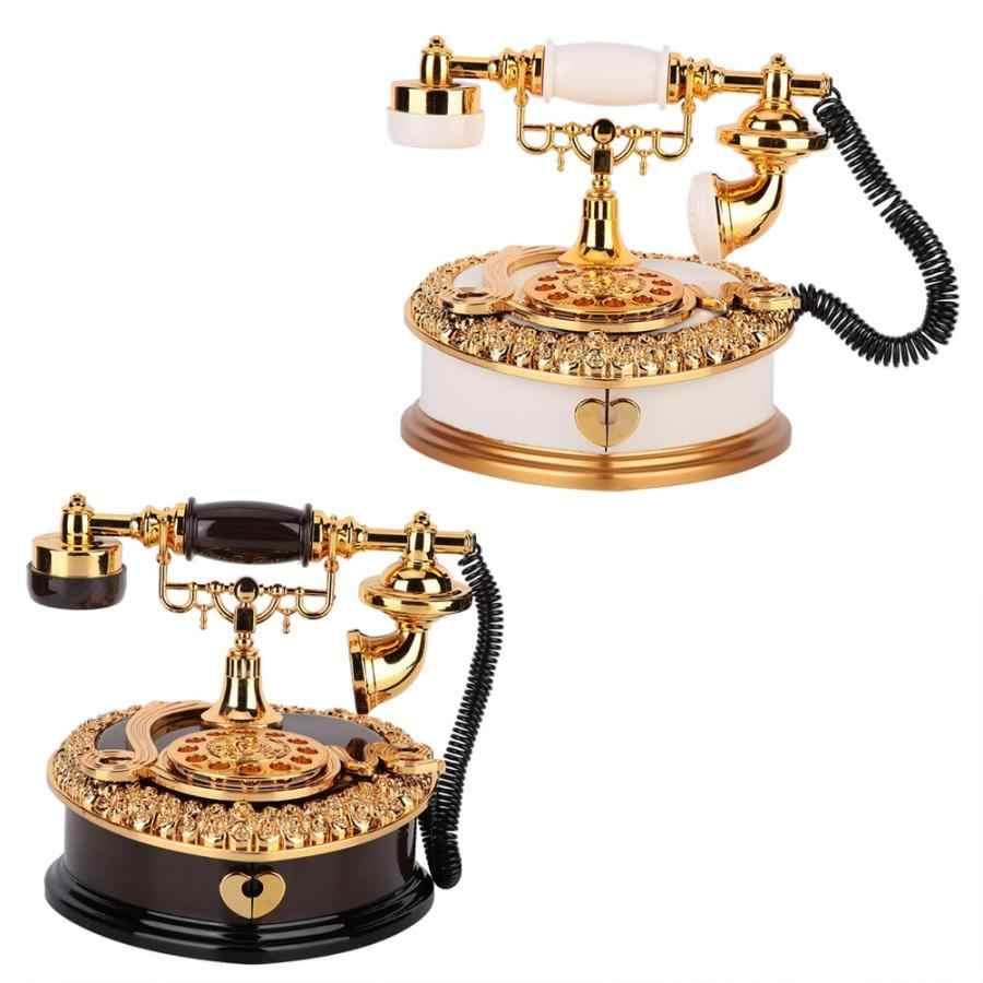 恋人結婚式ホームデコレーション音楽ボックス古典的な赤の電話置物デスクトップジュエリーボックス豪華なギフト高品質オルゴール