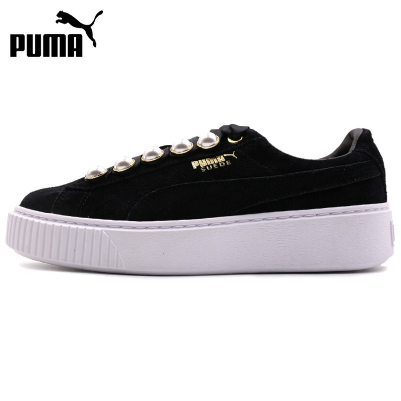 Original New Arrival  PUMA  Suede Platform Bling Women's  Skateboarding Shoes Sneakers
