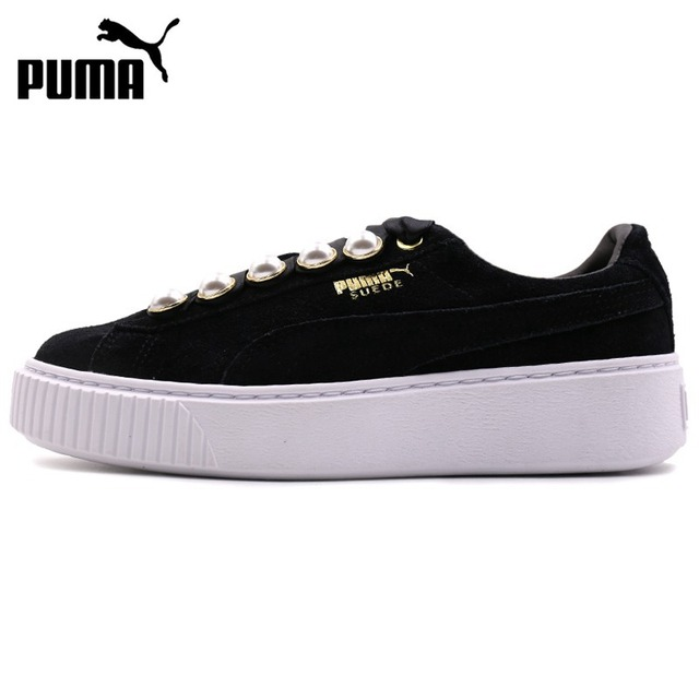 66959dc3bf34 Original New Arrival PUMA Suede Platform Bling Women s Skateboarding Shoes  Sneakers