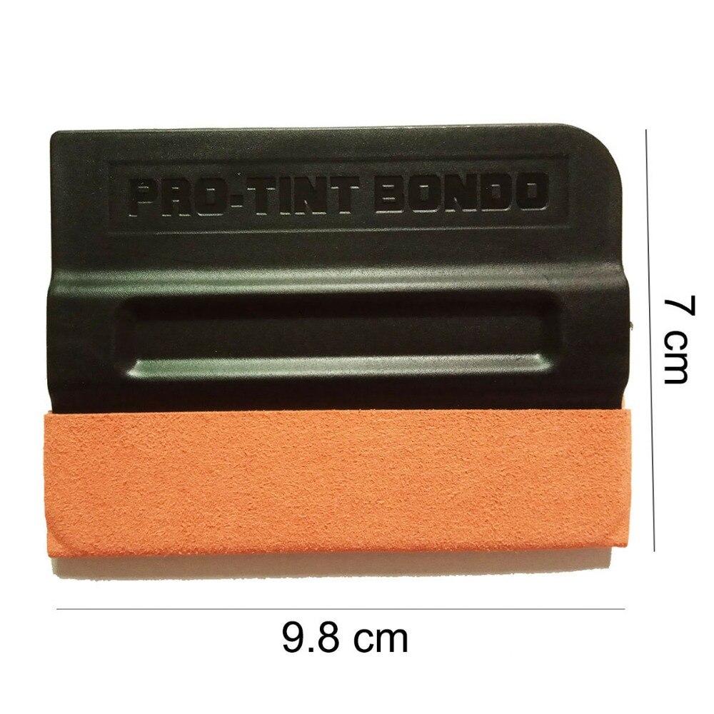 Auto couleur changement fenêtre grattoir Wrap teinte vinyle Film daim laine aimant raclette nettoyage Kit d'outils accessoires voiture style K77 - 4