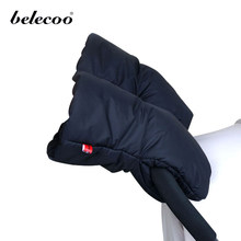 Belecoo for Winter Kids Keep Warm Baby Stroller Hand Muff Warm Fur Fleece Pushchair Hand Muff Baby Buggy Clutch(China)
