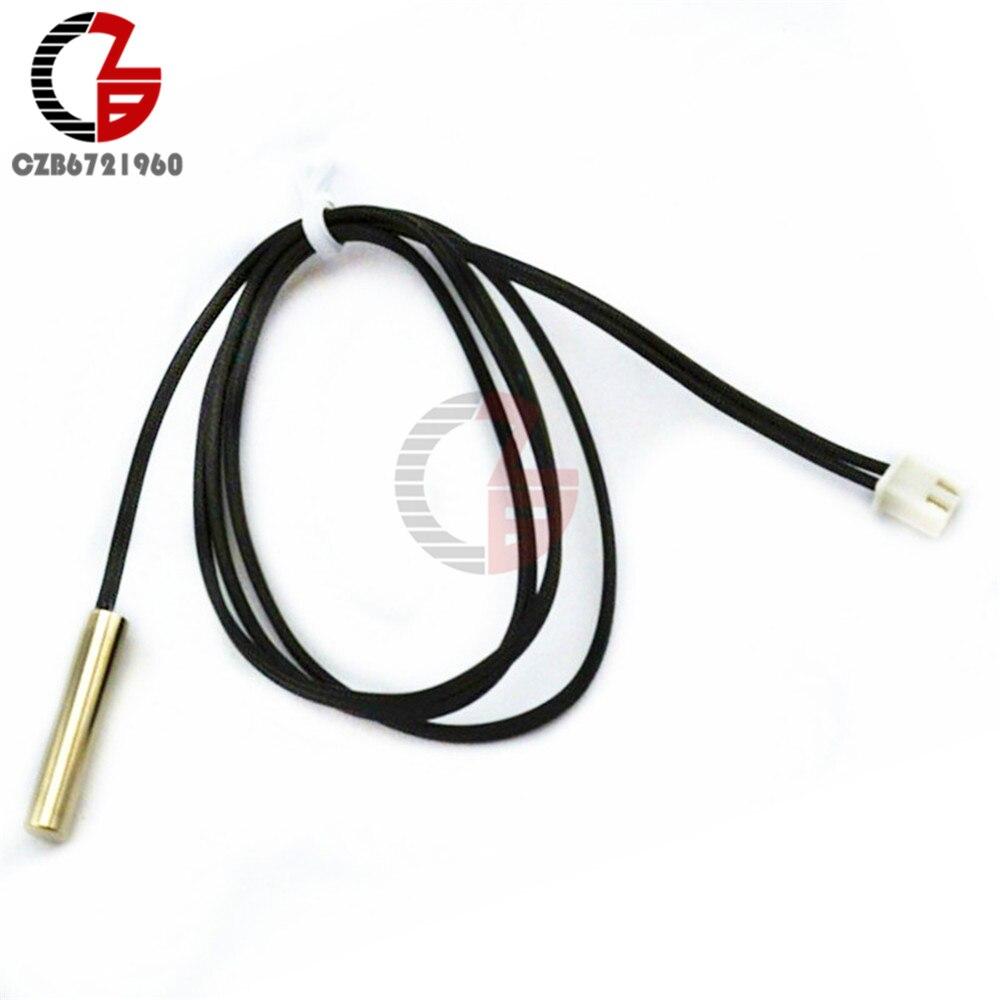 0,5 м/1 м/2 м/2,5 м/3 м DS18B20 DS18S20 NTC 10 к 1% 3950 водонепроницаемый цифровой датчик температуры зонд NTC термистор тепловой кабель - Цвет: 10K 0.5M