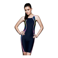 2018 New Long legs swimsuit bodysuits women boyshorts swimwear o-back design highlight stripes bathing suit