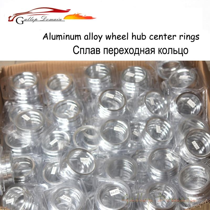 4 pièces/lots 73.1 À 66.1 Hub Centric Anneaux OD = 73.1mm ID = 66.1mm moyeu de Roue En Aluminium anneaux livraison Gratuite Voiture de Coiffure