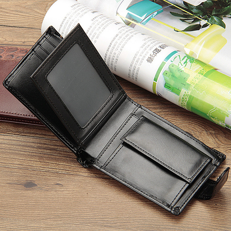 Baellerry Patchwork Leather Men Wallets Short Male Purse With Coin Pocket Card Holder Brand Trifold Wallet Men Clutch Money Bag 4