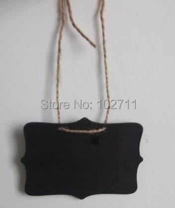 SALE - 1000 Mini Chalkboard Hanging Tag -Chair signage - Wedding sign - Table Number - Chalkboard and twine -Name Tag