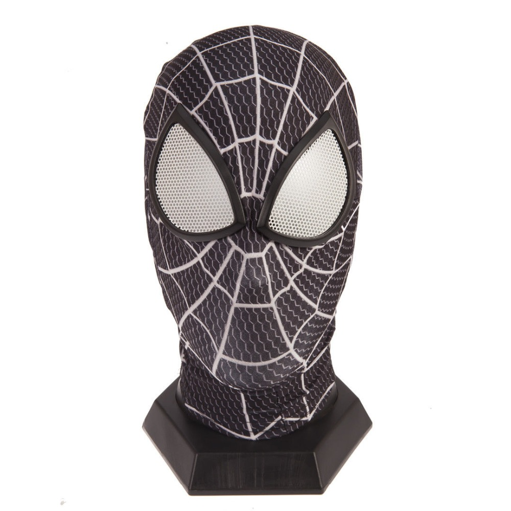 Amazing Spiderman Black Mask Halloween Party Accessory 3D Eye Mask Spider-Man Cosplay Masks Gift Drop Ship