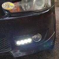 SNCN LED Daytime Running Light For Mitsubishi Lancer 2010 2011 2012 Car Accessories Waterproof ABS 12V DRL Fog Lamp Decoration