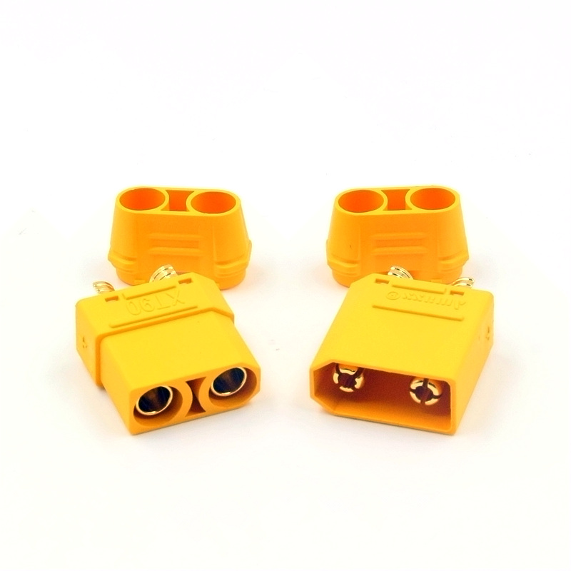 Original Black Loved xt90 /& Insulated Caps Male Female Connectors//Plugs