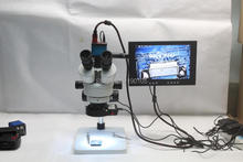Big discount Trinocular Stereo Microscope 3.5X-90X Continuous Zoom Magnification 14MP HDMI USB Camera LED Light Source 10-inch Monitor