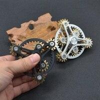 Gear Hand Fidget Spinners Bearing R188 Shuriken Gyro Seven Or Nine Gears Brass Spinner Genji Metal
