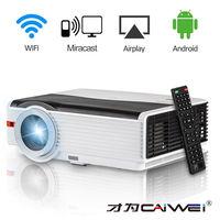 CAIWEI A9A светодиодный проектор WI-FI 5000 люмен 1280*800 Домашний кинотеатр Портативное аудио видео проектор Android ТВ/ bluetooth 4,0