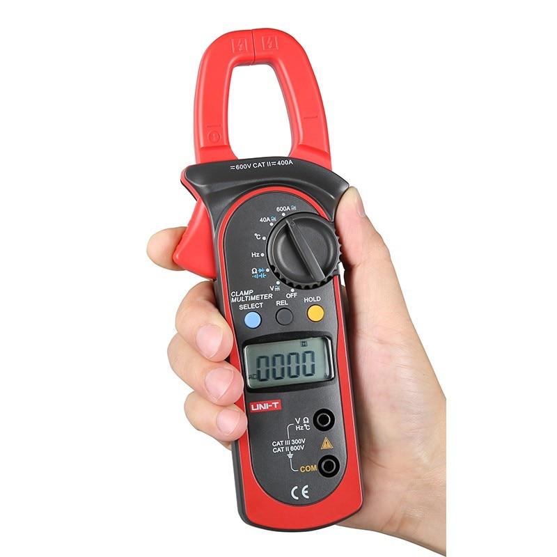 UNI-T pince mètre UT204A ac dc courant pince mètre V/F/C mesure pince multimètre LCD numérique pince mètre ut204a ut-204a
