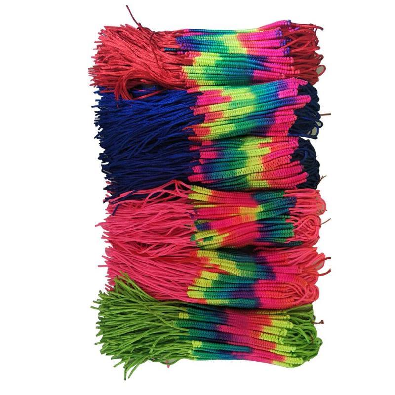 Cheap Bohemian Colorful Rainbow Handmade Weave Bracelet Rope Woven DIY Cords Braided String Friendship Bracelet 10/50/100pcs