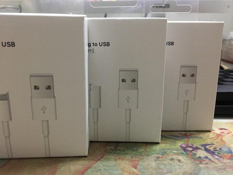 100 Pcs/lot, plus récent 3.0mm AAAA qualité métal tressé USB données chargeur câble pour iPad iPhone 8 7 6 s 6 plus X, avec boîte de vente au détail