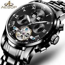 2db972762ad1 ESOPO Moda Reloj Mecánico Automático de Los Hombres Reloj de Pulsera A  Prueba de Golpes Caja Ceasuri Hueco Impermeable Hombre Re.