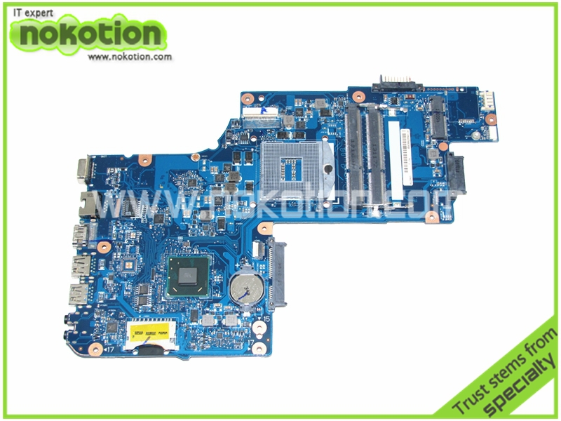 цена NOKOTION PLF PLR CSF CSR DCS MB REV-2.1 Laptop motherboard for Toshiba C850 C855 L850 intel HM76 DDR3 15''