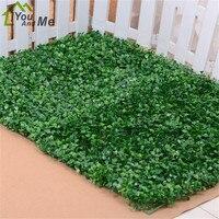 Green Grass Artificial Turf Plants Garden Ornament Plastic Lawns Carpet Sod For Wedding Xmas Party Decor 40x60cm