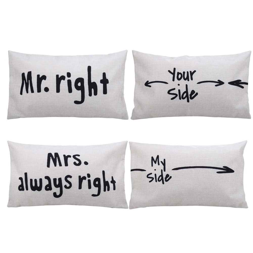 Mr Right Mrs Always Right Bettwäsche Funny Wedding Gifts 2019 02 19