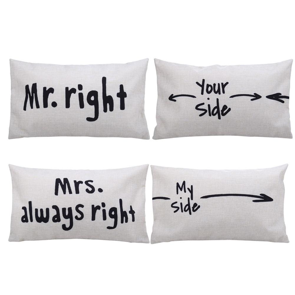 Mr Right Mrs Always Right Bettwäsche Funny Wedding Gifts 2019 02 19