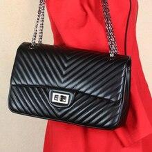 2016 hot sale women shoulder bag pu leather v style handbag